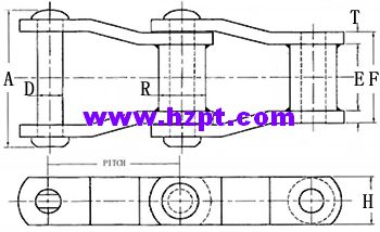 Welded Steel Chain,Transmission Roller Chain,TRC Adapted For Light