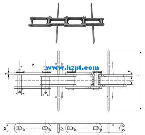 Chain,Chains,Conveyor Chain for Grain Machines HS101 6,HS101