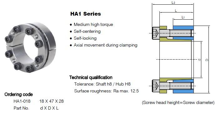 HA1 Series Locking Assemblies