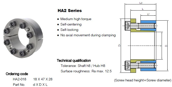 HA2 Series Locking Assemblies