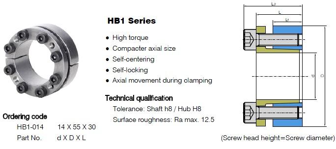 HB1 Series Locking Assemblies