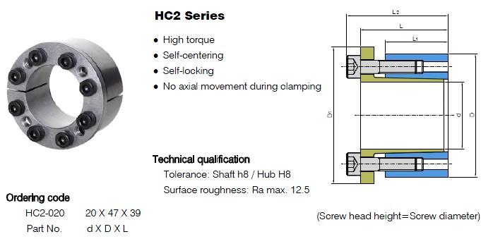 HC2 Series Locking Assemblies