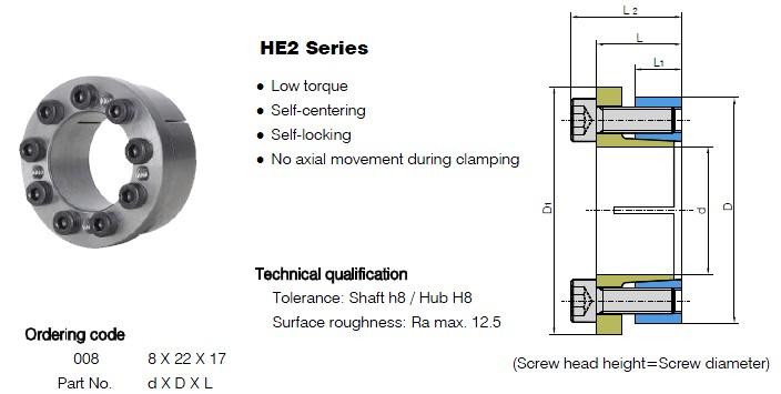 HE2 Series Locking Assemblies