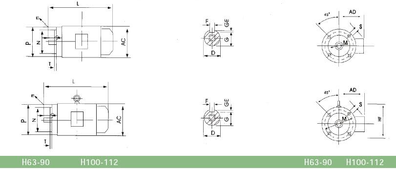 electric motors y2 motor ys motor yd motor YC motor Y motor